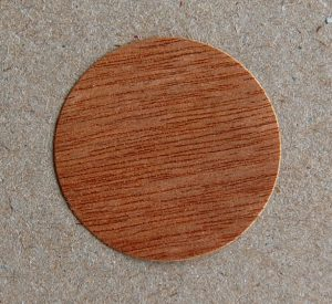 Individuelles Etikett Holzfurnier MicroWOOD