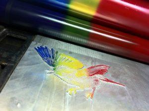 Rainbow print iris print